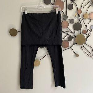 All Saints Pants & Jumpsuits - All Saints Raffi cropped black leggings skirt